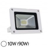 Projecteur Led 10W (90W) IP65 Slim Blanc jour Blanc