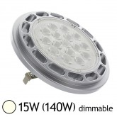 Spot Led 15W (140W) G53 AR111 12V dimmable Blanc jour 4000°K