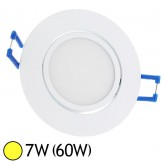 Spot LED 7W (60W) encastrable orientable Blanc chaud 3000°K
