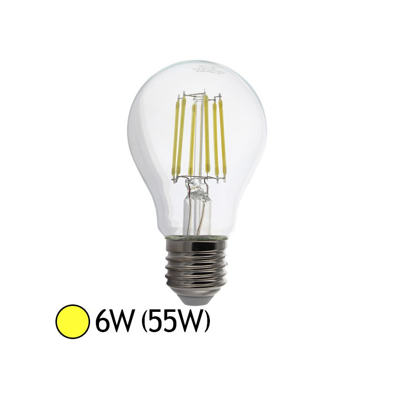 ampoule led 6w 55w cob filament e27 bulb clair blanc chaud led et fluo. Black Bedroom Furniture Sets. Home Design Ideas