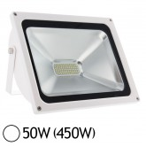 Projecteur Led 50W (450W) IP65 Finition blanc Blanc jour 6000°K