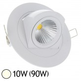 Spot Led escargot COB 10W (90W) encastrable orientable Blanc jour 4000°K