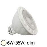 Spot Led 6W (55W) dimmable GU5.3 12V Blanc jour 4000°K