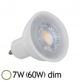 Spot Led 7W (60W) GU10 Dimmable Angle 38° Blanc jour 4000°K