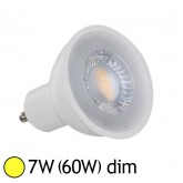 Spot Led 7W (60W) GU10 Dimmable Angle 38° Blanc chaud 3000°K