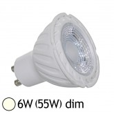 Spot Led 6W (55W) dimmable GU10 Blanc jour 4000°K