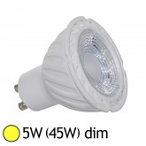 Spot Led 5W (45W) GU10 Dimmable Angle 80° Blanc chaud 3000°K
