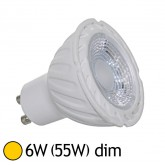 Spot Led 6W (55W) dimmable GU10 Blanc chaud 2700°K