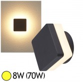 Applique murale LED COB 8W(70W) IP54 Blanc chaud 3000°K Forme carrée