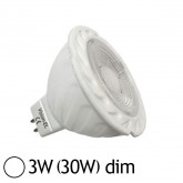 Spot Led COB 3W (30W) GU5.3 Angle 38° 12V Dimmable Blanc jour