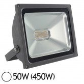 Projecteur Led 50W (450W) IP65 Finition grise Blanc jour 6000°K
