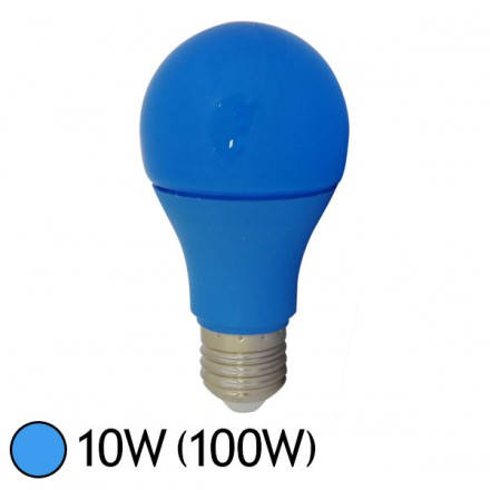ampoule led bleue 10w 100w e27 bulb color led et fluo. Black Bedroom Furniture Sets. Home Design Ideas