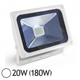 Projecteur Led 20W (180W) IP65 Finition Blanc Blanc jour 6000°K