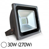 Projecteur Led 30W (270W) IP65 Finition gris Blanc jour 6000°K