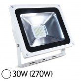 Projecteur Led 30W (270W) IP65 Finition blanc Blanc jour 6000°K