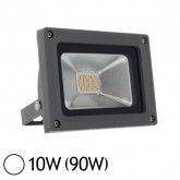 Projecteur Led 10W (90W) IP65 Finition gris Blanc jour 6000°K
