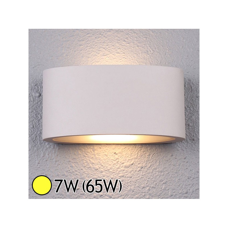 Applique murale int rieure led 7w 65w blanc chaud 3000 k for Applique murale interieure