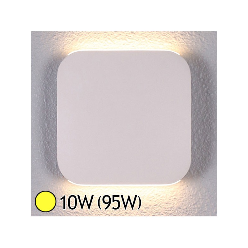 Applique murale int rieure led 10w 95w blanc chaud 3000 for Applique murale interieure