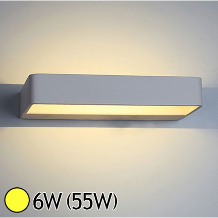 Applique murale int rieure led 6w 55w blanc chaud 3000 k for Applique murale interieure