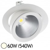 Spot Led escargot COB 60W (540W) encastrable orientable Inclinable Blanc jour 4000°K
