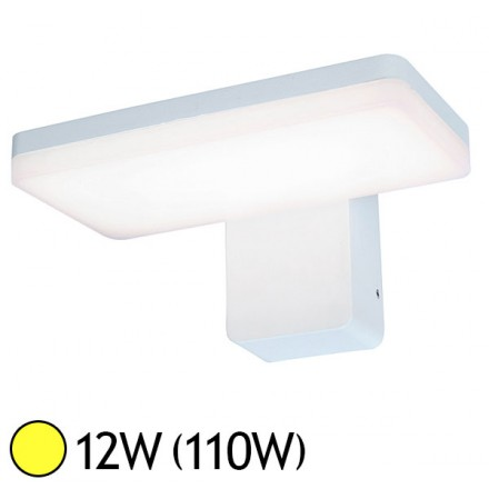 Applique murale LED COB 12W (110W) IP65 Blanc chaud 3000°K