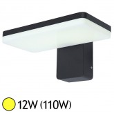 Applique murale LED COB 12W (110W) IP65 Finition gris Blanc chaud 3000°K