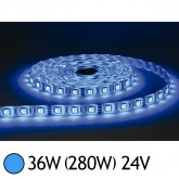 Bandeau LED 36W (280W) 24V IP65 (Epoxy) Bleu