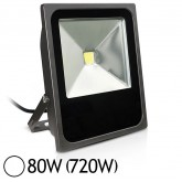 Projecteur Led 80W (720W) IP65 Finition gris Blanc jour 6000°K