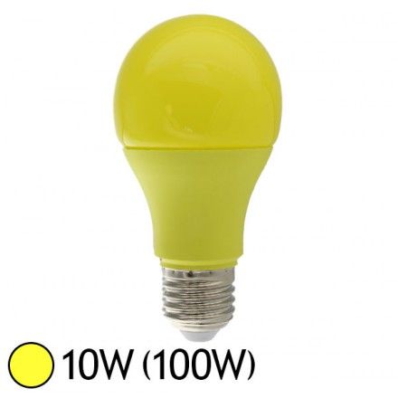 ampoule led jaune 10w 100w e27 bulb color led et fluo. Black Bedroom Furniture Sets. Home Design Ideas