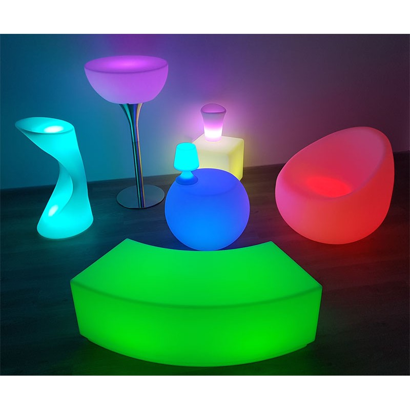 cube lumineux multi couleurs led rgb w avec batterie et t l commande led et fluo. Black Bedroom Furniture Sets. Home Design Ideas