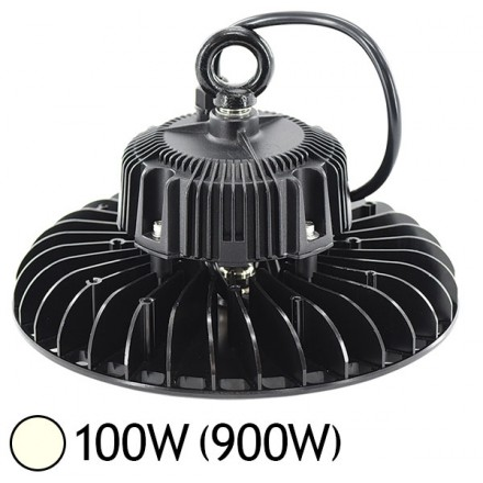 Lampe mine LED 100W (900W) IP65 Blanc jour 4000°K Driver Mean Well