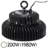 Lampe mine LED 200W (1980W) IP65 Blanc jour 4000°K Driver Mean Well