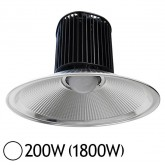 Lampe mine LED 200W (1800W) IP54 Blanc jour 6500°K