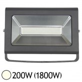 Projecteur Ext LED 200W (1800W) IP65 Finition grise Blanc jour 4000°K