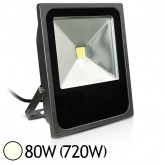 Projecteur ext COB LED 80W (720W) IP65 Finition Gris Blanc jour 4000°K