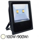 Projecteur Ext COB LED 100W (900W) IP65 Slim Finition Gris Blanc jour 4000°K
