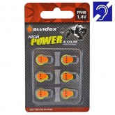 Piles (x6) PR48 - 1.4V - Alcaline Pro High Power pour appareil auditif