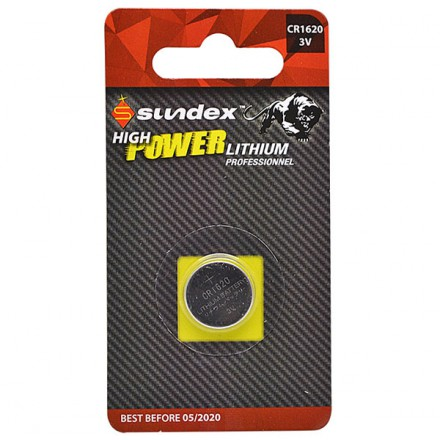 Pile CR1620 - 3V - Lithium Pro High Power Sundex
