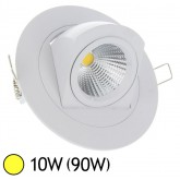 Spot Led escargot COB 10W (90W) encastrable orientable Blanc chaud