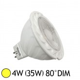 Spot LED COB 4W (35W) GU5.3 12V DC Dimmable Blanc chaud 3000°K