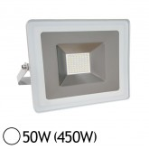 Projecteur LED 50W (450W) IP65 Blanc jour 6000°K Finition blanche