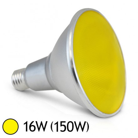 Ampoule LED 16W (150W) E27 PAR38 IP65 Couleur Jaune