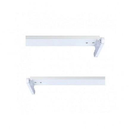 Support double pour 2 tubes Led T8 1500 mm (sans ballast)