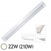 Tube LED 22W (210W) T8 1200 mm Blanc jour 4000°K dépoli + support T8
