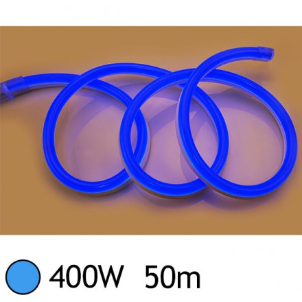 NEON LED FLEXIBLE 400W 230V Couleur BLEU 50m 27/15 Gainage pvc IP65