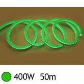 NEON LED FLEXIBLE 400W 230V Couleur VERT 50m 27/15 Gainage pvc IP65