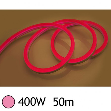 NEON LED FLEXIBLE 400W 230V Couleur ROSE 50m 27/15 Gainage pvc IP65