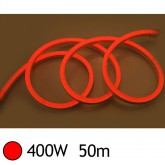 NEON LED FLEXIBLE 400W 230V Couleur ROUGE 50m 18/11 Gainage pvc IP65