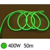 NEON LED FLEXIBLE 400W 230V Couleur VERT 50m 18/11 Gainage pvc IP65