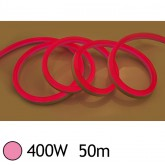 NEON LED FLEXIBLE 400W 230V Couleur ROSE 50m 18/11 Gainage pvc IP65